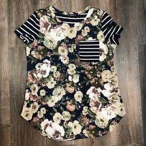 SHEIN Mixed Pattern Tee